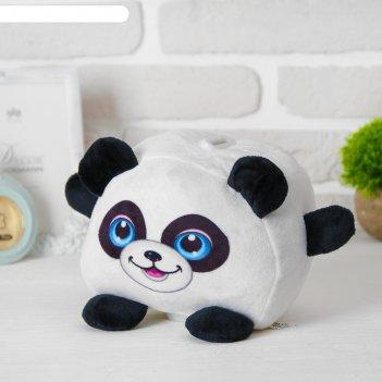 Мягкая игрушка-копилка «панда», со звуком, с подсветкой