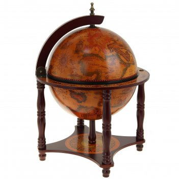 Глобус-бар декоративный, на подставке принц