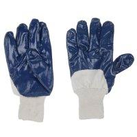 Перчатки рабочие х/б с нитриловым полуобливом ( 10 размер)