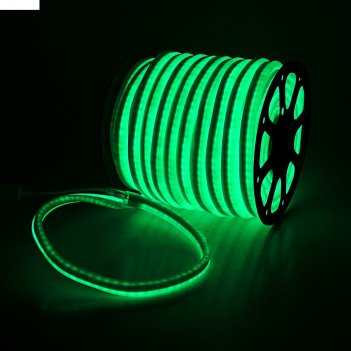 Гибкий неон, 12*24мм, 50 м, led/м-80-220v, зеленый