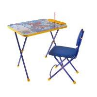 Набор детской мебели человек паук 2 складной: стол, мягкий стул и пенал, ц
