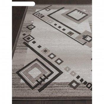 Прямоугольный ковёр silver d188, 200x300 см, цвет gray