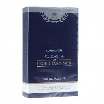 Туалетная вода для мужчин legendary men commander, 85 мл