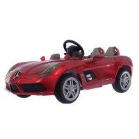 Электромобиль mercedes-benz slr mclaren new, eva колёса, цвет красный глян