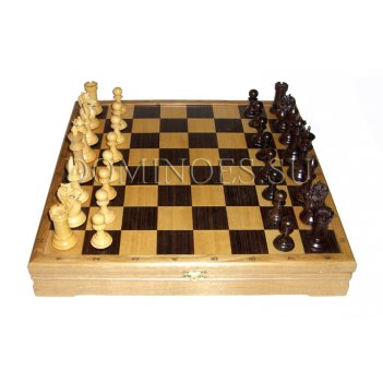 Шахматы классические стандартные деревянные утяжеленные 43х43см