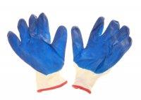 Перчатки нейлоновые с нитриловым покрытием, усиленные (полуоблив) (10 разм