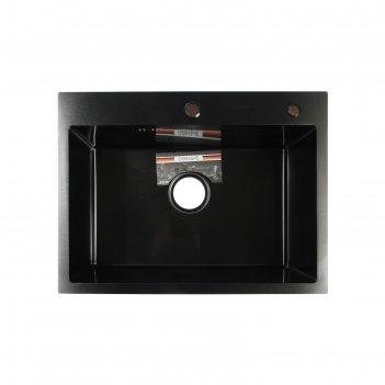 Мойка кухонная gerhans k36045b, врезная, 600 х 450 х 220 мм,  толщина 1,0