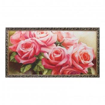 Гобеленовая картина букет роз 65*123 см