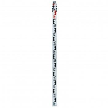 Рейка нивелира телескопическая ada staff 4, отсчет мм, шкалы снизу вверх,
