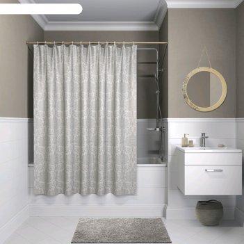 Штора для ванной комнаты iddis d01p118i11, 180x180 см, полиэстер