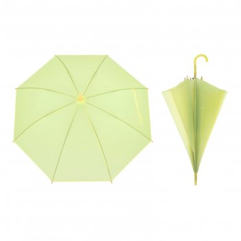 Зонт детский полуавтоматический однотонный, r=41см, цвет жёлтый