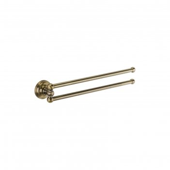 Полотенцедержатель fixsen fx-83802a, двойной, бронза