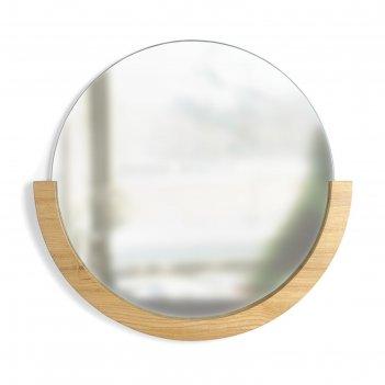 Настенное зеркало mira натуральное дерево