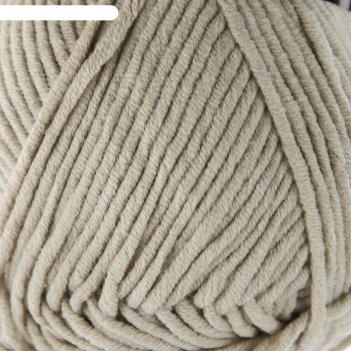 Пряжа jeans plus 55% хлопок, 45% акрил 160м/100гр (49 серый)