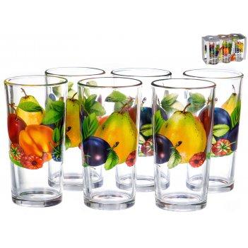 Набор стаканов ода «французское лето» 250 мл, 6 предметов
