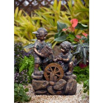 Декоративный фонтан для дачи  дети