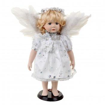 Кукла коллекционная керамика ангелок лиля 36 см