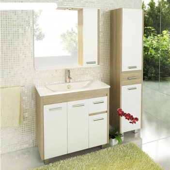 Тумба-умывальник для ванной тулуза-90 85,5 х 90 х 47 см с раковиной comfor