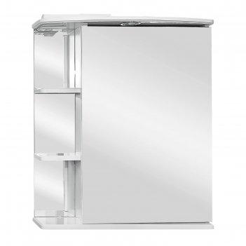 Зеркало-шкаф ника, светильник  600 фацет правое