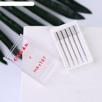 Иглы для бытовых швейных машин  для крепа 5 шт №55 organ