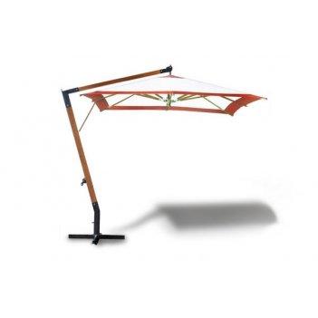 Деревянный садовый зонт пятигранный 3x3 метра