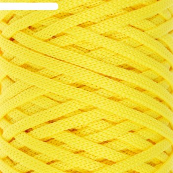 Шнур для вязания классика 100% полиэфир 3мм 100м  (110 лимонный)