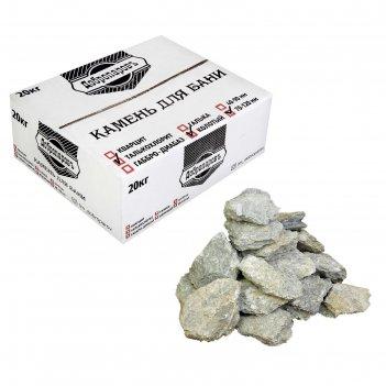 Камень для бани талькохлорит колотый, добропаровъ коробка 20кг, фракция 70
