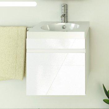 Тумба-умывальник для ванной диана-50 50 х 49,5 х 46 см подвесная с раковин
