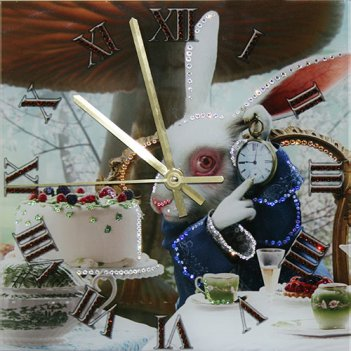 Картина сваровски - часы время пить чай
