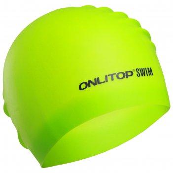Шапочка для плавания, для длинных волос, цвет салатовый