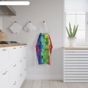 Фартук «радужный принт», размер 68 x 65 см, оксфорд