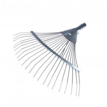 Грабли веерные, проволочные, 22 зубца, оцинкованная сталь, без черенка