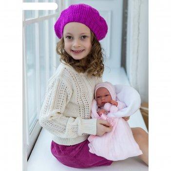Кукла-младенец «эльза» в розовом, 33 см