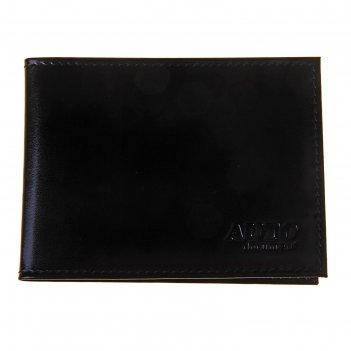 Обложка для автодокументов, цвет чёрный гладкий