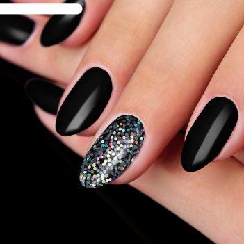 Блёстки для ногтей крупные, цвет серебристый
