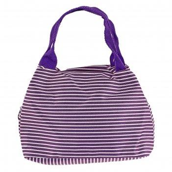 Косметичка-сумочка морячка 1 отдел на молнии, 2 ручки, фиолетовый