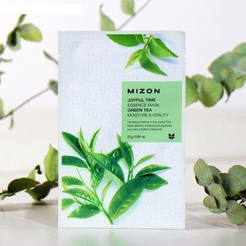 Mizon тканевая маска для лица с экстрактом зелёного чая joyful time essenc