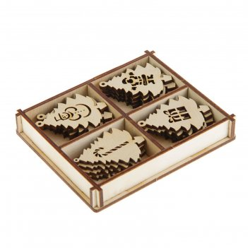 Набор заготовок для творчества «ёлочки», 4 вида,16 шт, размер 5х4 см