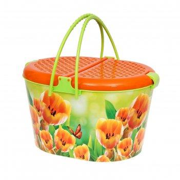 Корзина для пикника тюльпаны м3039