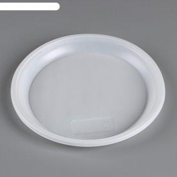 Тарелка одноразовая d 205 мм белая