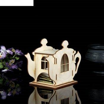 Заготовка для декупажа шкатулка для чайных пакетиков с крышкой 18 х 13 х 9