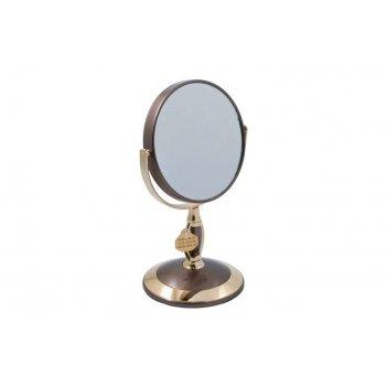 Зеркало* b4906 brz/g bronze&gold настольное 2-стор. 3-кр.ув