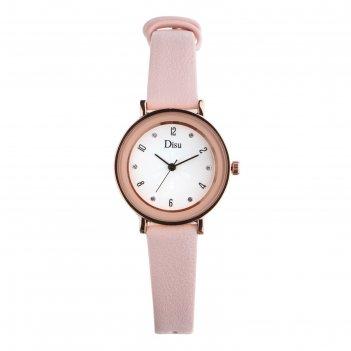 Часы наручные женские ачерра, d=3.5 см, розовый ремешок