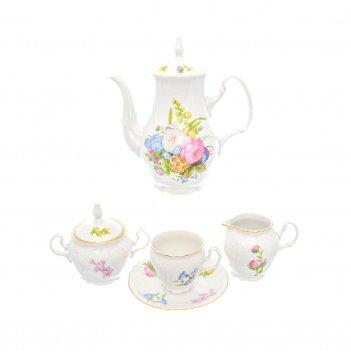 Кофейный сервиз bernadotte весенние цветы на 6 персон 17 предметов