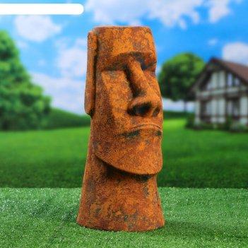 Садовая фигура истукан майя цвет коричневый, состаренный, 42 см