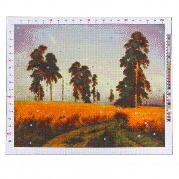Канва для вышивания с рисунком «шишкин. рожь», 47 х 39 см