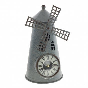 Часы настольные декоративные мельница, l21 w19 h36 см, (1хаа не прилаг.)