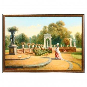 Картина дама в царском саду 35х50 см