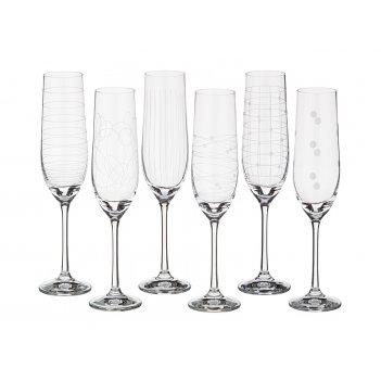 Набор бокалов для шампанского из 6 шт. виола мик...