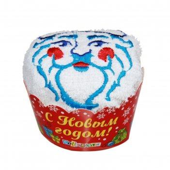 Полотенце сувенирное с вышивкой collorista дед мороз 28 х 28 см хлопок